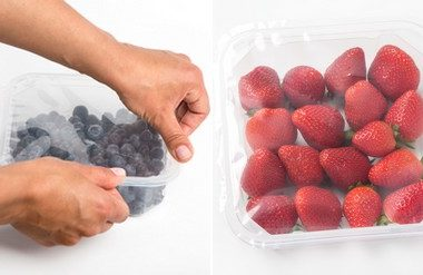 Envase para berries promete alargar su vida útil